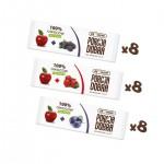 Porcja Dobra MIX przekąski owocowe 16 g (karton 3 rodzaje - 24 sztuki)