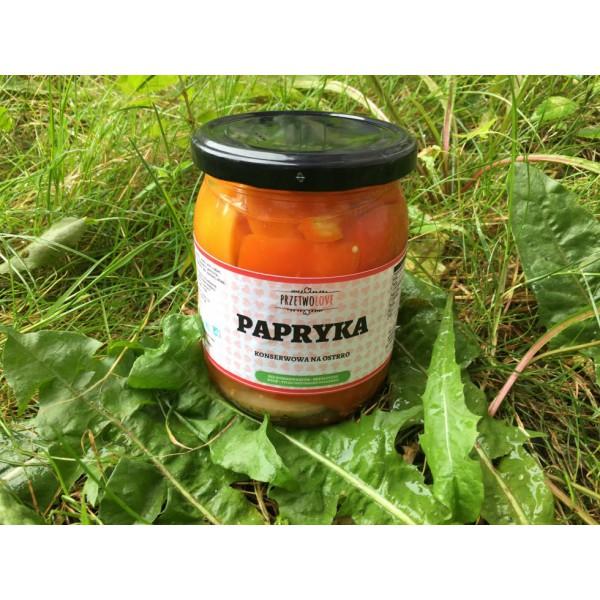 Przetwolove Papryka konserwowa z papryczką habanero na ostro (500ml)