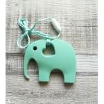 Przytulaki Silikonowy gryzak dla dziecka, Gryzak Słoń