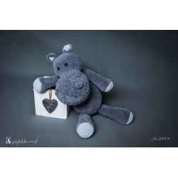 Przytulaki Przytulanka szydełkowa Hipopotam Bazyli