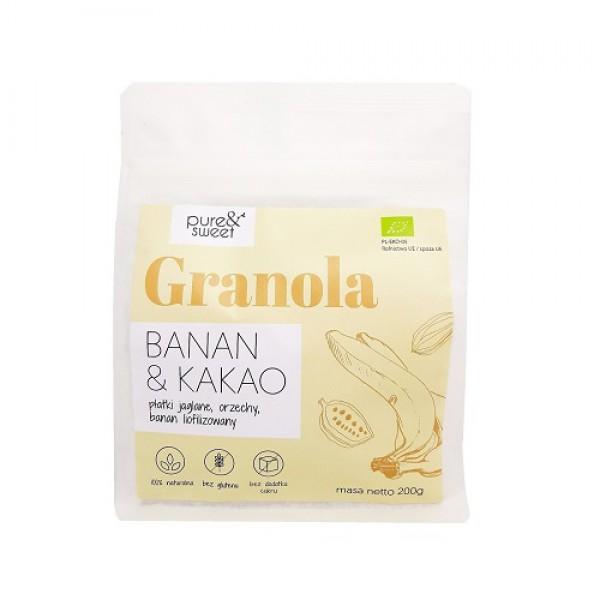 Pure&Sweet BIO Granola Banan&Kakao 200g