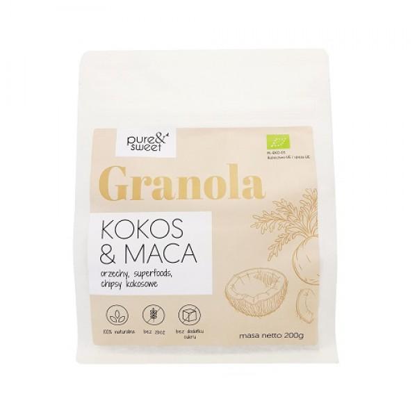 Pure&Sweet BIO Granola Kokos&Maca 200g