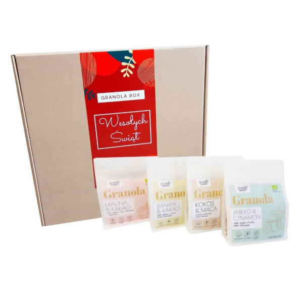 Pure&Sweet Granola Box Świąteczny, Prezent Na Święta 4x200g
