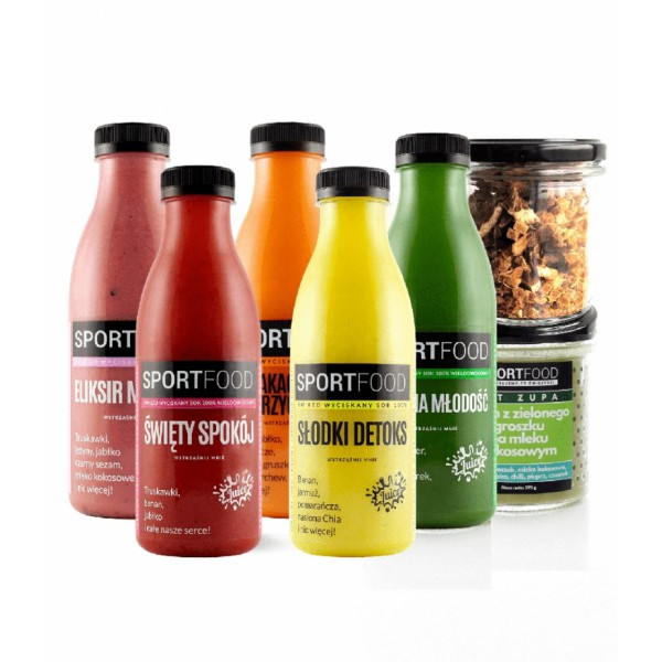 SPORTFOOD A WARMING JUICE DIET FOR 3 DAYS