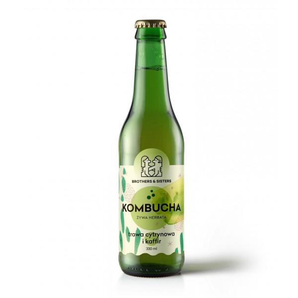 SPORTFOOD KOMBUCHA TRAWA CYTRYNOWA + KAFFIR 330 ml