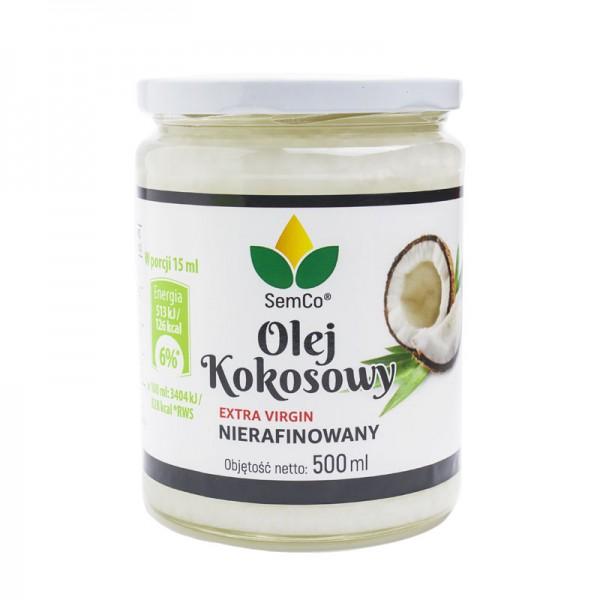 SemCo Olej Kokosowy Nierafinowany 500ml