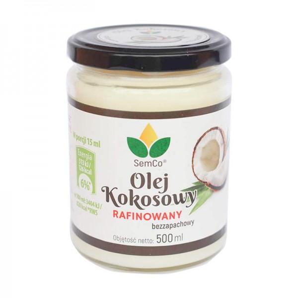 SemCo Olej Kokosowy Rafinowany 500ml