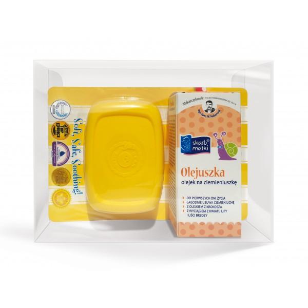 Skarb Matki Zestaw Specjalny: Olejuszka na ciemieniuszkę 30 ml + Szczoteczka na ciemieniuchę Bean Clean