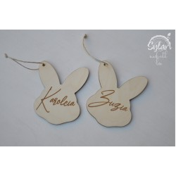 Sylart A pendant with name - bunny 1