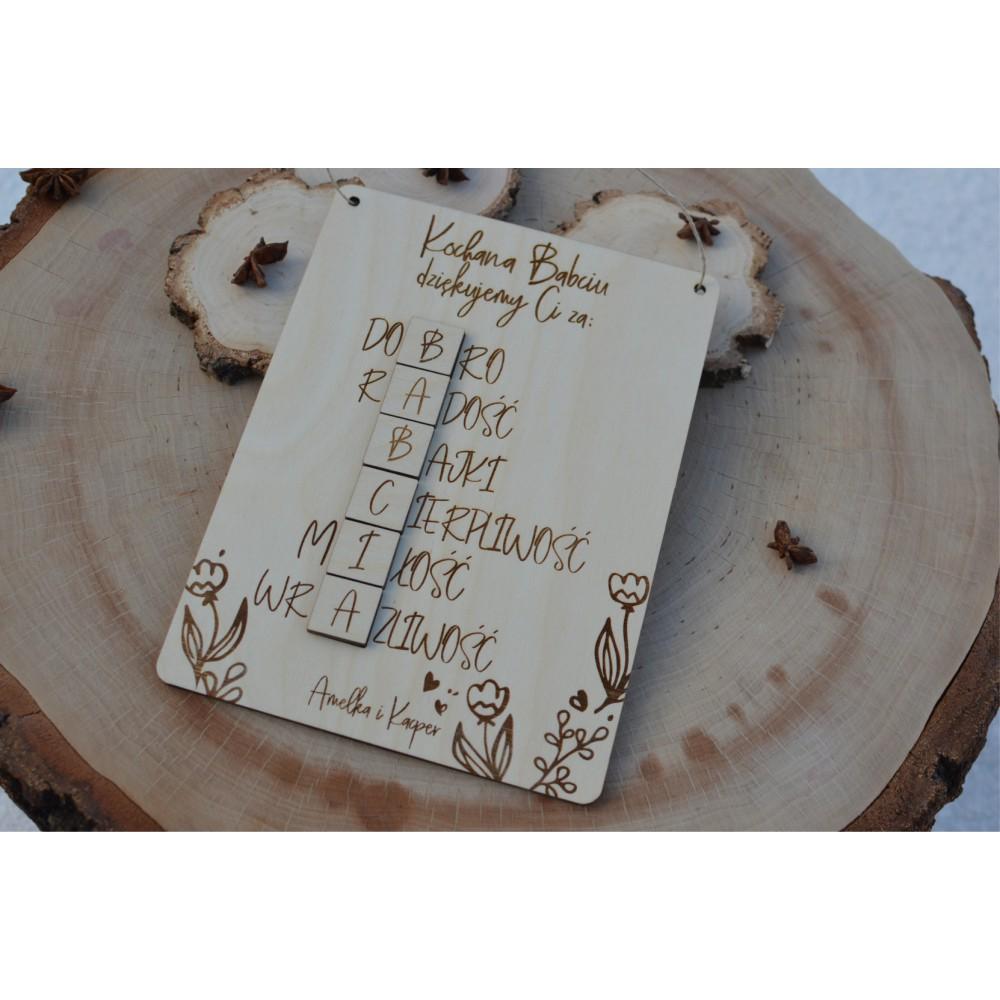 Sylart Tabliczka Krzyzowka Dla Babci I Dziadka