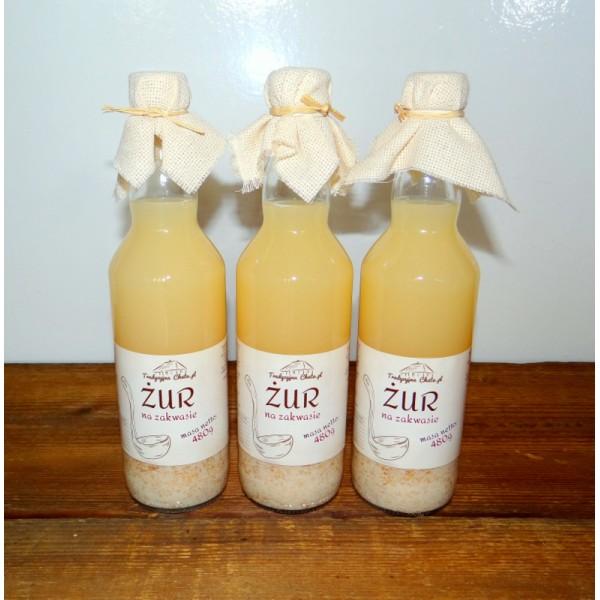 Tradycyjna Chata Żur na zakwasie 480g butelka szklana