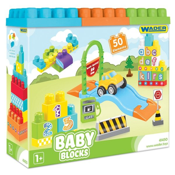 WADER BABY BLOCKS 50 SZT.