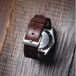 Wildleather Pasek do Zegarka z włoskiej skóry Buttero - ciemny brąz + personalizacja!!!