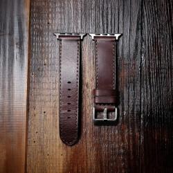 Wildleather Pasek do Apple Watch z włoskiej skóry Buttero - ciemny brąz
