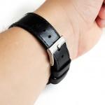 Wildleather Pasek do Apple Watch z włoskiej skóry Buttero - czarny