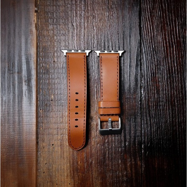 Wildleather Pasek do Apple Watch z włoskiej skóry Buttero - jasny brąz