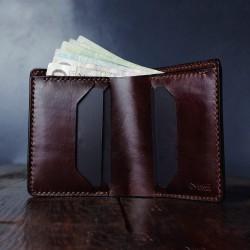 "Wildleather Men's natural leather folding wallet - ""Long"" model"