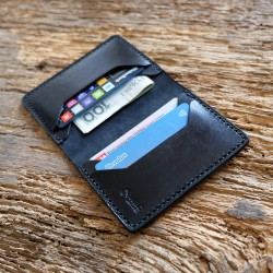 "Wildleather Leather wallet with the option of personalization - ""Wide"" model"