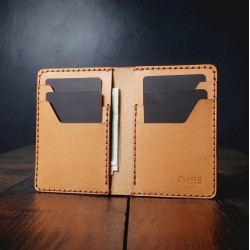"""Wildleather Leather wallet with personalization option - """"High"""" model"""