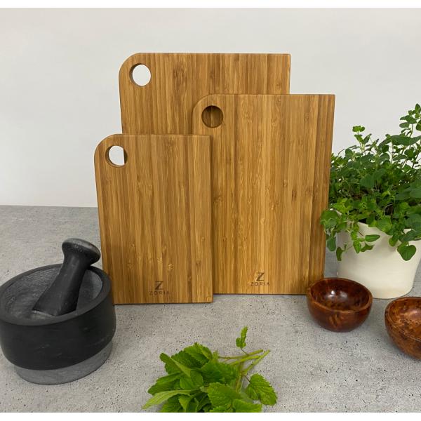 Zoria Bamboo Deska A1, drewno bambusowe, komplet 3szt.