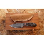 Ztefan Damascus steel knife NM-011 set with an exotic wood box
