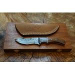 Ztefan Damascus steel knife NM-015 set with an exotic wood box