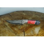 Ztefan Nóż ze stali damasceńskiej NM-018 w komplecie z pudełkiem z egzotycznego drewna