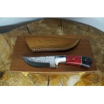 Ztefan Damascus steel knife NM-018 set with an exotic wood box