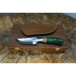 Ztefan Nóż ze stali damasceńskiej NM-022 w komplecie z pudełkiem z egzotycznego drewna