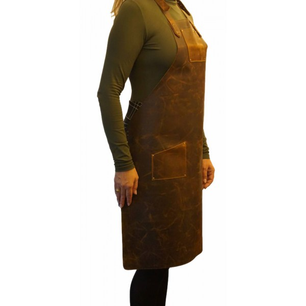 Ztefan Brown leather apron PC-14