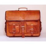 Ztefan Brown leather laptop bag / briefcase TK-023