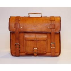 Ztefan Brązowa skórzana torba na laptopa / aktówka TK-033