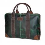 Ztefan Ciemnozielona skórzana torba na laptopa ZT-29