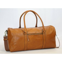 Ztefan Original leather travel weekend bag made of grain leather TP-02