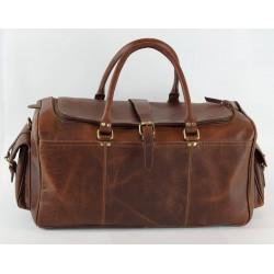 Ztefan Hunter chocolate brown leather weekend bag ZT-03
