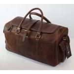 Ztefan Czekoladowo brązowa skórzana torba weekendowa Hunter ZT-03