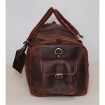 Ztefan Hunter chocolate brown leather weekend bag ZT-25