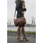 Ztefan Original leather everyday / weekend / travel / sports bag made of buffalo leather ZT-28