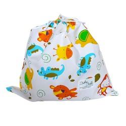 BabyBall Worek na buty kapcie do żłobka dla przedszkolaka bawełna mały - mini zoo