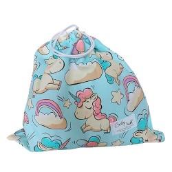 BabyBall Worek na buty kapcie pościel do żłobka do przedszkola bawełna mały - jednorożce