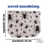 BabyBall Worek do przedszkola do żłobka dla dzieci bawełniany duży - pająki