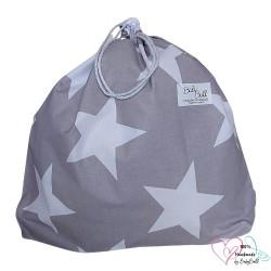 BabyBall Worek na buty pościel kapcie do przedszkola do żłobka bawełna duży - gwiazdy