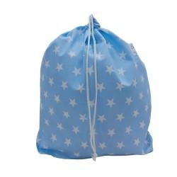 BabyBall Worek na pościel na kapcie do żłobka do przedszkola DUŻY bawełna - niebieski