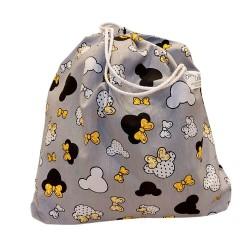 BabyBall Worek na buty kapcie pościel do żłobka do przedszkola DUŻY bawełna - myszki