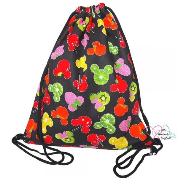 BabyBall Worek plecak na buty kapcie pościel do przedszkola żłobka bawełna duży - owocowe myszki
