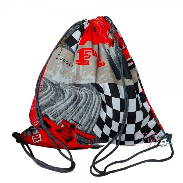 BabyBall Worek plecak na buty kapcie pościel do przedszkola żłobka bawełna DUŻY - F1