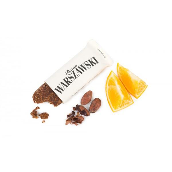 Baton WARSZAWSKI ziarno kakaowca i pomarańcza 60g 7 szt.
