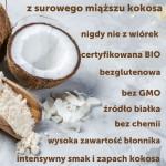 COCO FARM MĄKA KOKOSOWA BIO SUROWA NIE Z WIÓREK 100% BEZGLUTENOWA WYSOKOBŁONNIKOWA 500g