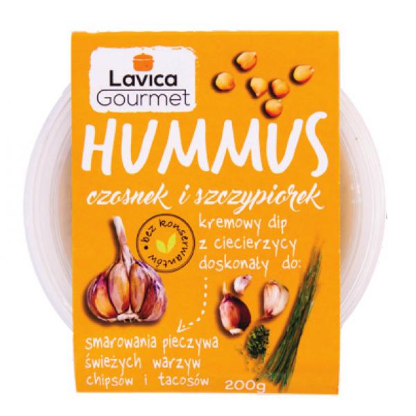 Hummus z Czosnkiem 200g Lavica Gourmet