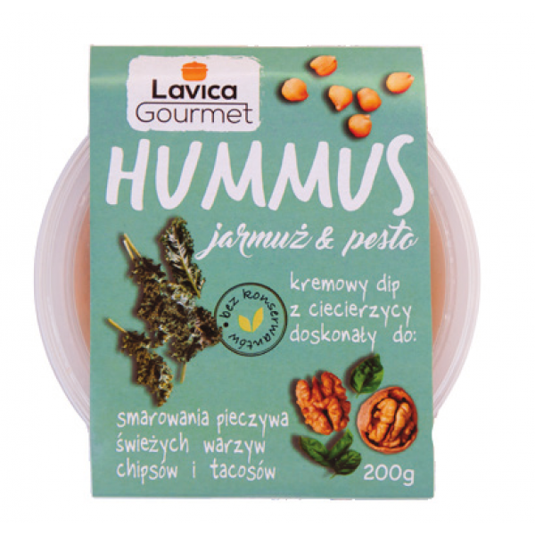 Hummus z Jarmużem 200g Lavica Gourmet